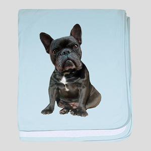 French Bulldog Puppy Portrait baby blanket