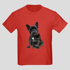 French Bulldog Puppy Portrait Kids Dark T-Shirt