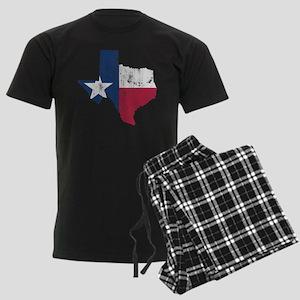 Vintage Texas State Outline Flag Pajamas