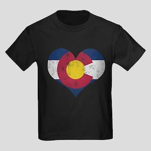 Vintage Colorado State Flag Heart T-Shirt