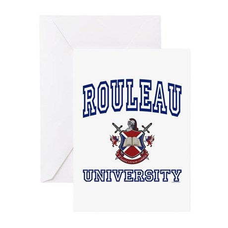 ROULEAU University Greeting Cards (Pk of 10)