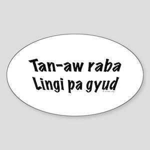 Tan-aw raba Oval Sticker