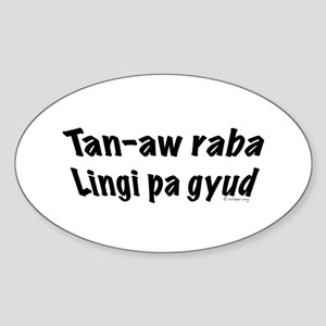 Cebuano stickers cafepress tan aw raba oval sticker m4hsunfo