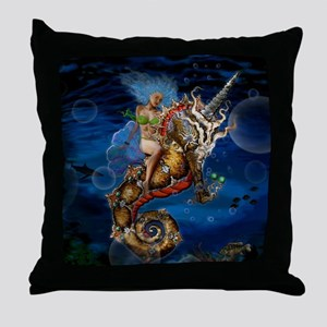 Aquatic Goddess Throw Pillow