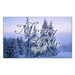 """Merry Yule"" Rectangle Sticker"