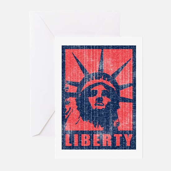 Liberty [Red&Blue] Greeting Cards (Pk of 10)