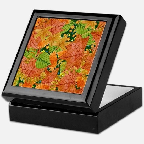 Autumn foliage Keepsake Box