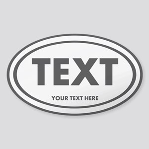 your text Sticker (Oval)