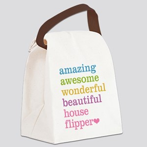 House Flipper Canvas Lunch Bag