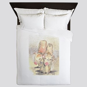 Piglets Two Queen Duvet