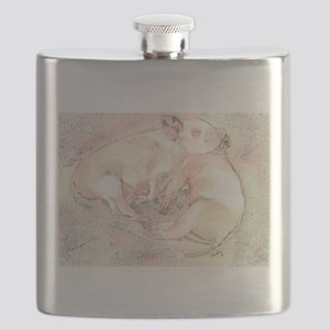 Piglets dreaming Flask
