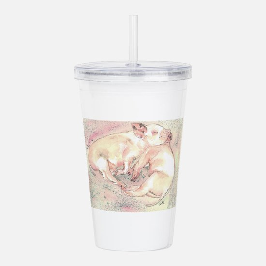 Piglets dreaming Acrylic Double-wall Tumbler