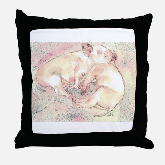 Piglets dreaming Throw Pillow