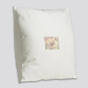 Piglets dreaming Burlap Throw Pillow