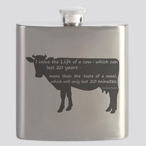 I value the life of a cow - which can last 2 Flask