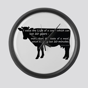 I value the life of a cow - which Large Wall Clock
