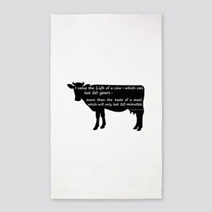 I value the life of a cow - which c 3'x5' Area Rug