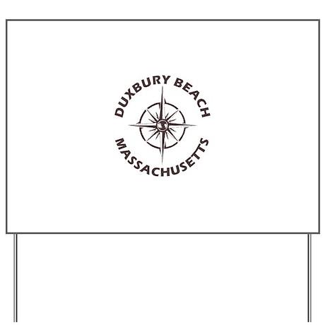 Massachusetts - Duxbury Beach Yard Sign