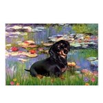 Lilies (2) & Dachshund Postcards (Package of 8)
