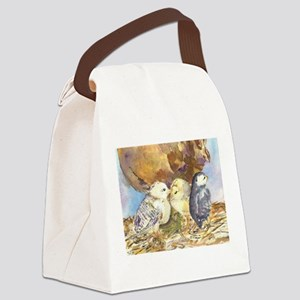 Three little chicks Canvas Lunch Bag