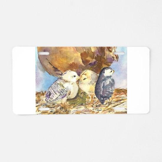 Three little chicks Aluminum License Plate