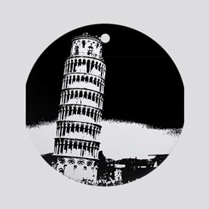 Leaning Tower Ornament (Round)