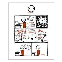"""The Idea Fairy Comic 1 - 20"""" Posters"""
