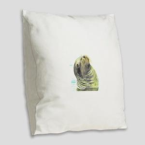 Galapagos Sea Lion Burlap Throw Pillow