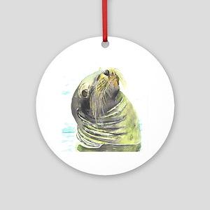Galapagos Sea Lion Ornament (Round)