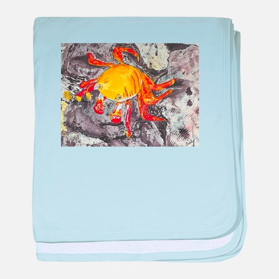 Galapagos Lightfoot Crab baby blanket