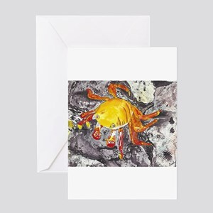 Galapagos Lightfoot Crab Greeting Cards