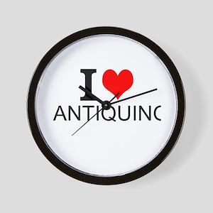 I Love Antiquing Wall Clock