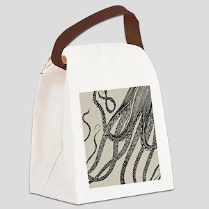 Vintage Octopus Tentacles Canvas Lunch Bag