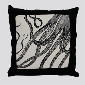 Vintage Octopus Tentacles Throw Pillow