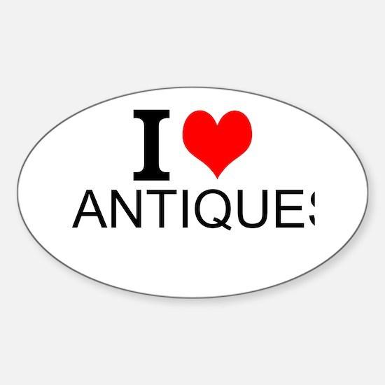 I Love Antiques Decal