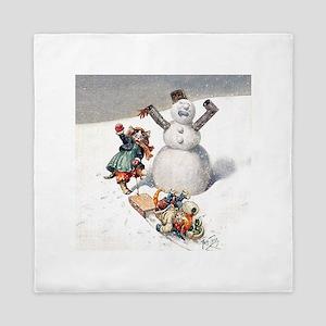 Kittens Play in The Snow Queen Duvet
