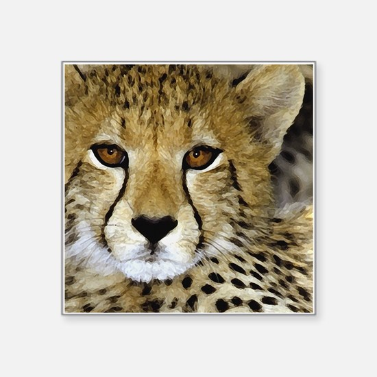 Cheetah Portrait Sticker