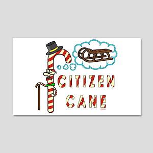Funny Christmas Pun Citizen Cane Wall Decal