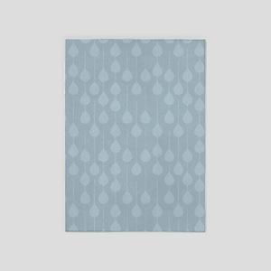 Blue Gray Rain 5'x7'Area Rug