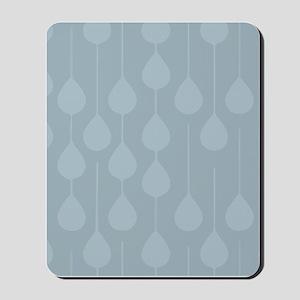Blue Gray Rain Mousepad