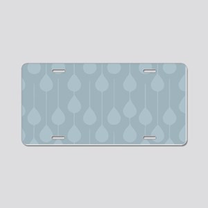 Blue Gray Rain Aluminum License Plate
