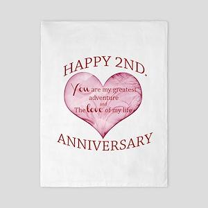 2nd Anniversary Twin Duvet