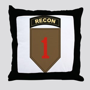 1st ID Recon Throw Pillow