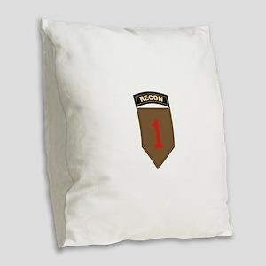 1st ID Recon Burlap Throw Pillow