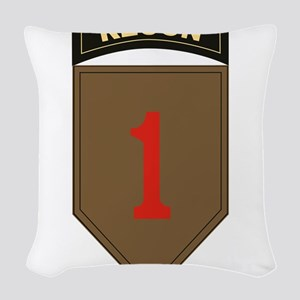1st ID Recon Woven Throw Pillow