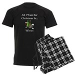 Christmas Wine Men's Dark Pajamas