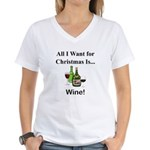 Christmas Wine Women's V-Neck T-Shirt