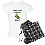 Christmas Wine Women's Light Pajamas