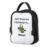 Christmas Wine Neoprene Lunch Bag
