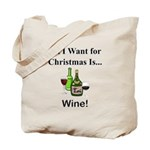 Christmas Wine Tote Bag